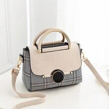 plaid pu leather handbags women fashion small handbag for girls summer tote bag crossbody shoulder bags for women sling bag