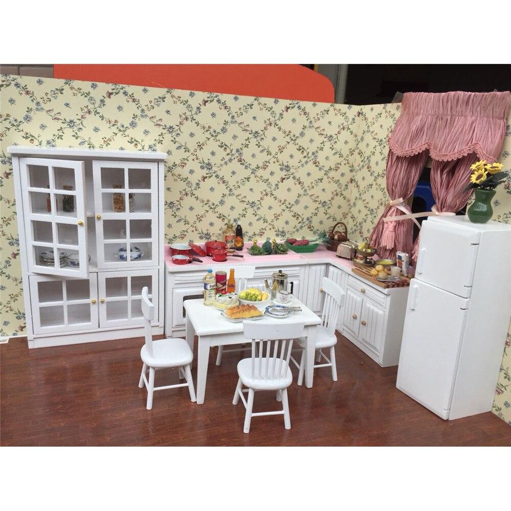 112 muebles de casa de muñecas juguete para muñecas en miniatura estufa de refrigerador simulación cocina Juegos Juguetes para juego de imitación para niñas regalos