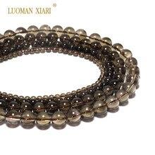 Großhandel 100% Natürliche AAA + Smoky Quartzs Kristall Stein Perlen Für Schmuck Machen DIY Armband Halskette 4/6/ 8/10mm Strand 15
