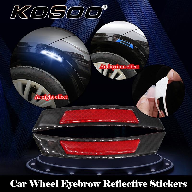 KOSOO coche tira reflectante etiqueta de advertencia de seguridad protectora luz coche-estilo de Alfa Romeo Giulietta 940 156 4C Mito 146, 159