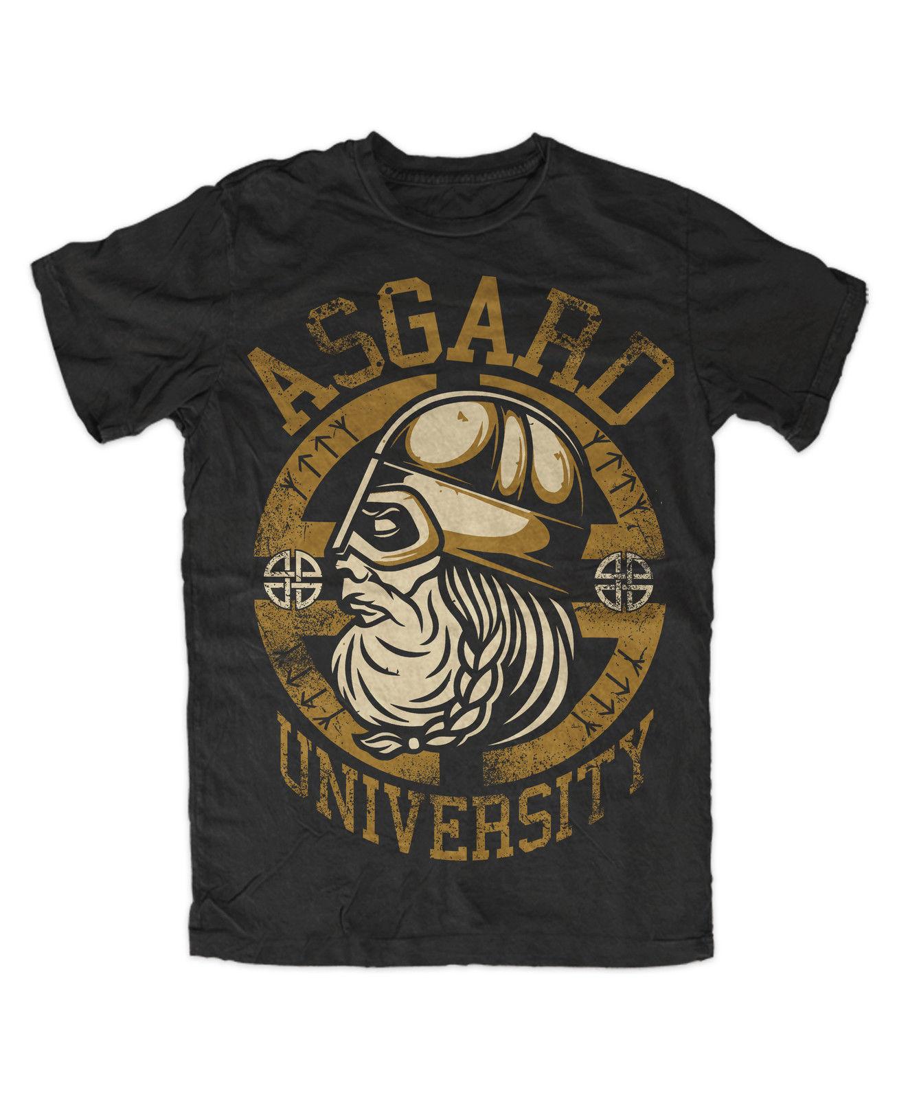 Asgard Universidad camiseta vikingo Odin Germanen... Wikinger oferta barata de algodón 100% T camisas para niños de dibujos animados