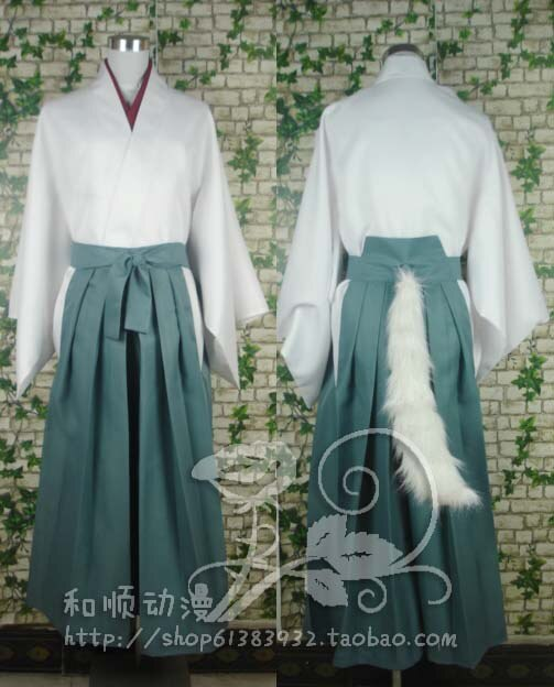 Anime Kamisama Hajimemashita Aşk tomoe cosplay kostüm kimono cosplay tops + pantolon + ayrılabilir yaka + Kulak kuyruk