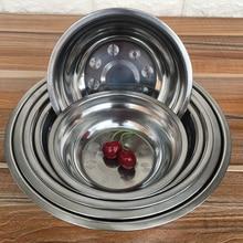New 1Pc 6 Sizes 14-24cm Stainless Steel mixing Bowl for Kitchen Boll Restaurant Dinner Soup Stainless Rice Bowl Bol Inox Korean