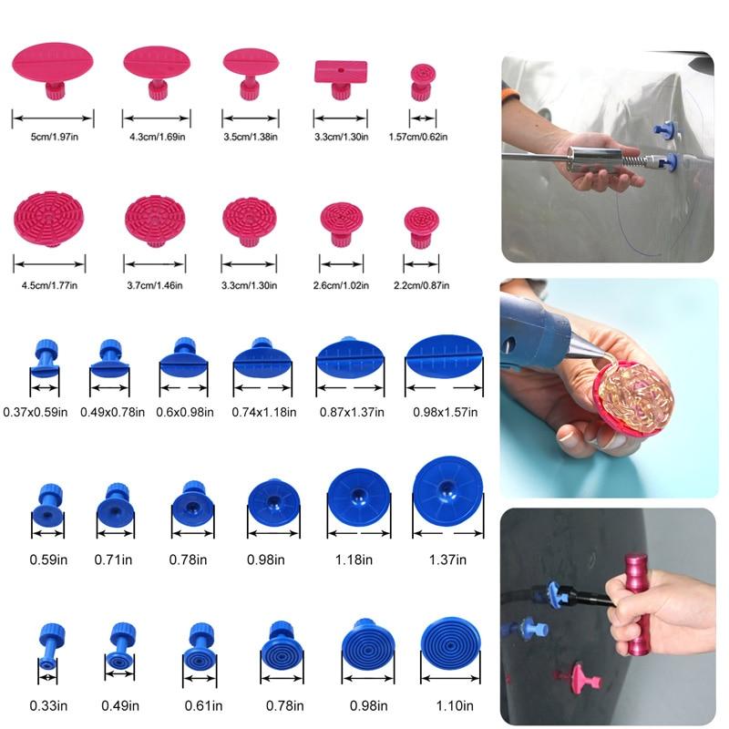 Herramientas Super PDR Kit de pegamento de pestañas a Dent agarrador con ventosa tazas para reparación de abolladuras de coche Kit de abolladura sin Kit de reparación de conjunto de herramientas de mano