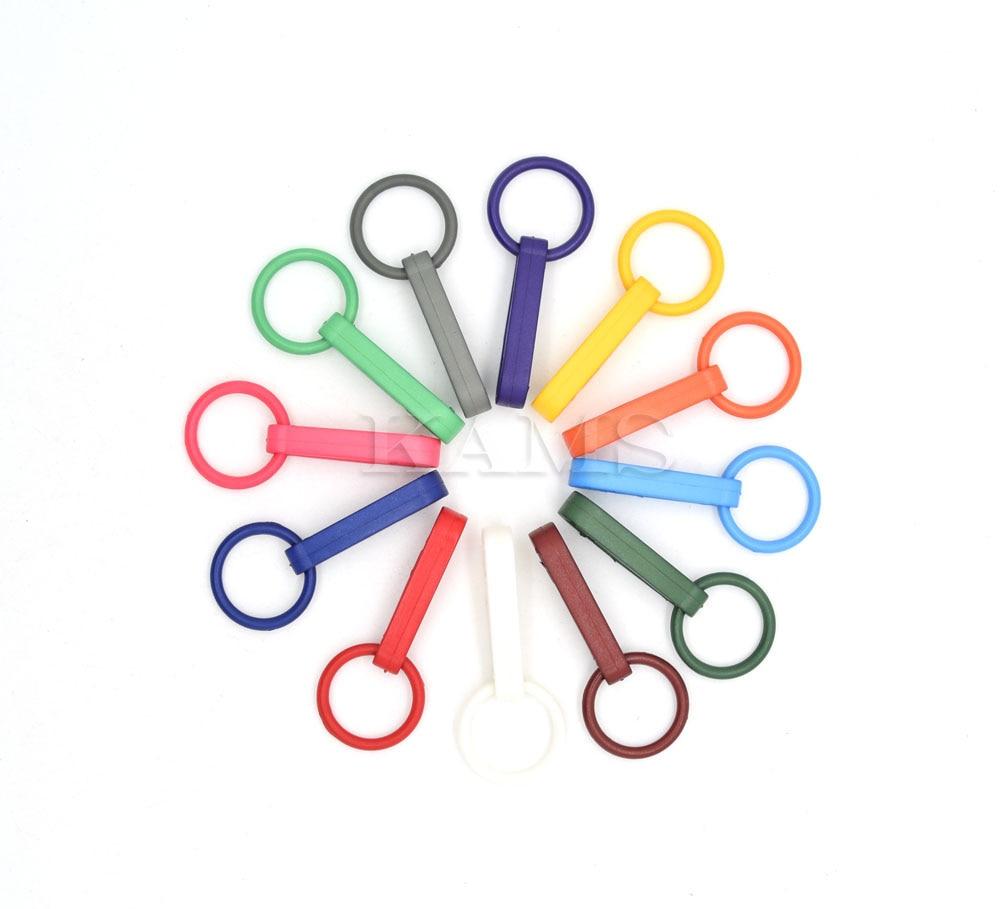 1200 piezas guantes coloridos gancho hebillas de plástico gancho a presión con anillo O utilizado para cortinas de ducha