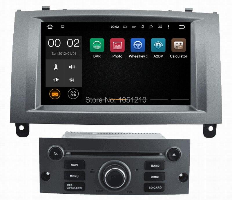 Autoradio android 7,1 Ouchuangbo, gps para Peugeot 407, compatible con wifi, Bluetooth, enlace de espejo, navegación gps, vídeo 1080P, 2GB de RAM