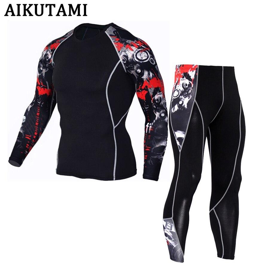Traje deportivo de compresión para hombres Mma Rashguard Muay Thai Kickboxing camiseta camisetas de artes marciales mixtas + Pantalones ropa interior entrenamiento deporte chándal