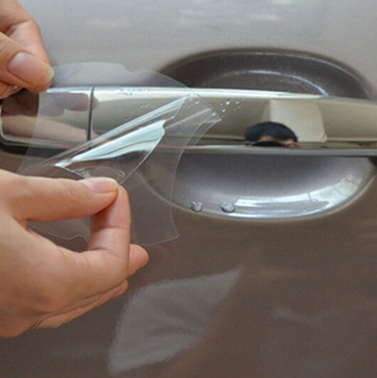 4/lote carro lidar com película protetora adesivos acessórios para opel zafira lada vesta nissan qashqai j11 kia sorento hyundai acento