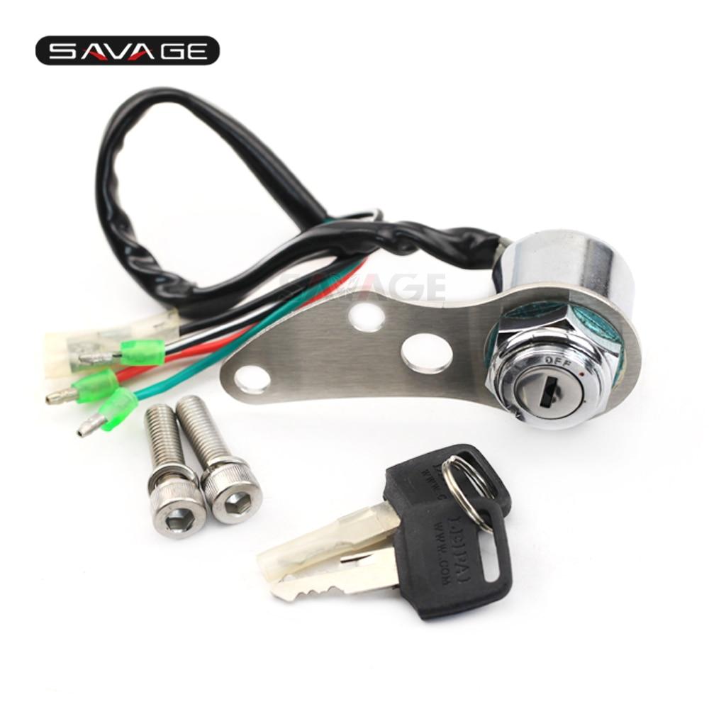 Moto de Motocross clave conjunto de bloqueo de encendido interruptor de llave de bloqueo para SUZUKI DR-Z 400S 2000-2017/DRZ 400SM 2005-2009 de aluminio Accesorios