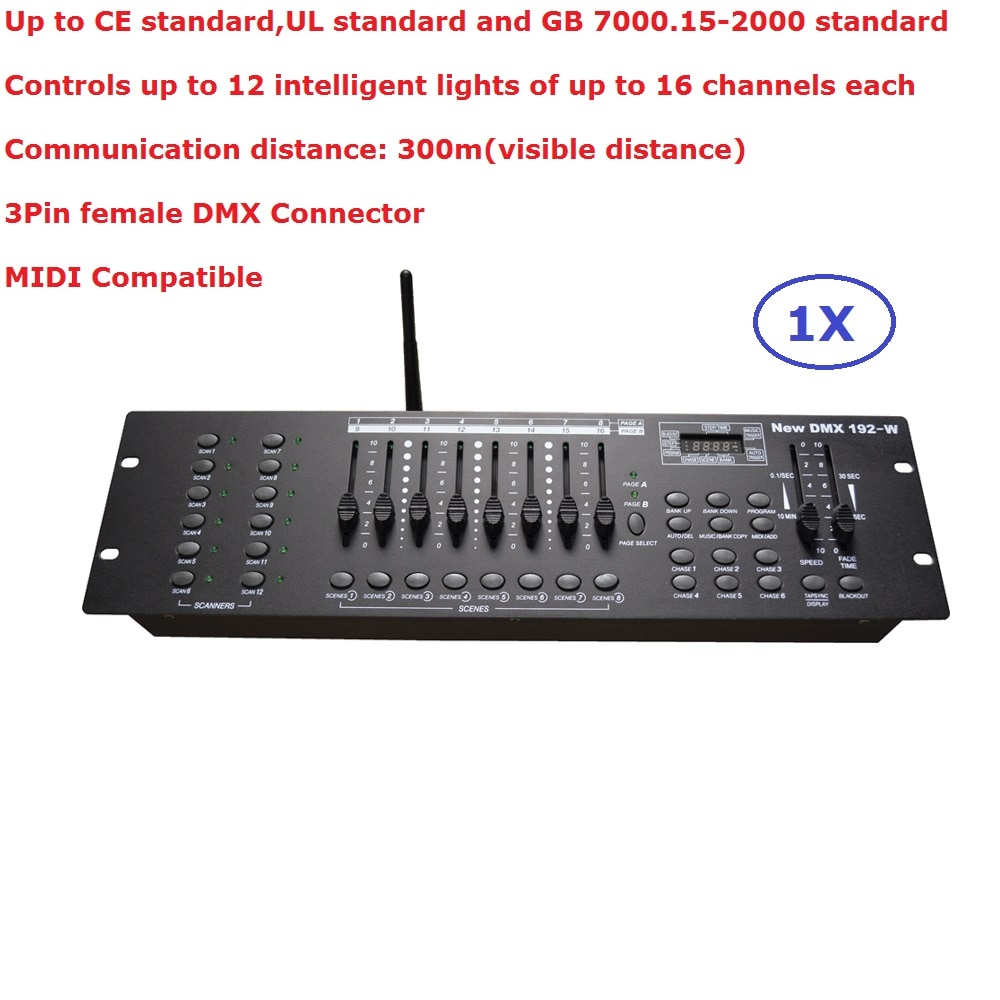 кейс для диджейского оборудования magma dj controller case mcx 8000 Newest 192-W DMX Controller Stage Lighting DJ Equipment DMX Console For LED Par Moving Head Spotlights DJ Controller
