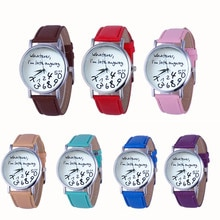 Hot Women Leather Watch Whatever I am Late Anyway Letter Watches Wristwatch Clock Gift women watches luxury Reloj femenino