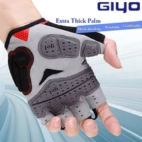 giyo arc light cycling half finger gloves silica gel bicycle wicking fabric unisex mtb gloves road bike glove guantes ciclismo