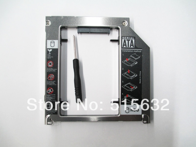 Para Apple MacBook Pro A1278 A1286 A1297 2nd 9,5mm SATA HDD SSD adaptador de Bahía Caddy