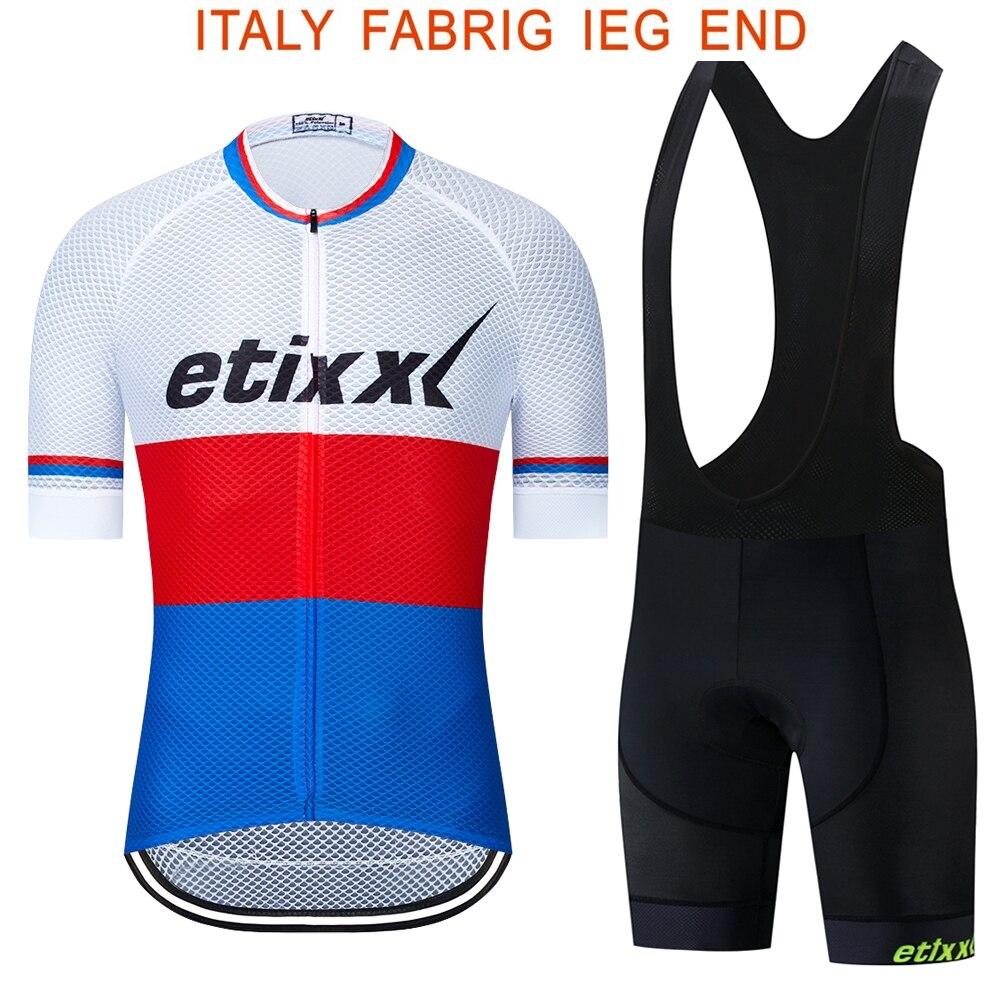 Dżersej męski rowerowy 2020 Pro Team etixxl letnia odzież rowerowa szybkoschnący zestaw sporty wyścigowe rower Mtb koszulki rowerowe jednolite