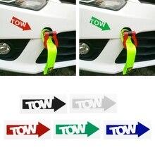 Autocollant de course en vinyle   Crochet de remorquage pour Auto, flèche autocollant de voiture, dérive de position Illest 240sx piste