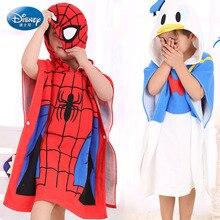 Spider Man child Bath towel  cloak hooded Pure Cotton Baby Swimming Towel Cape Gauze Beach Towels Bathrobe Bathrobe Baby Hold Bl