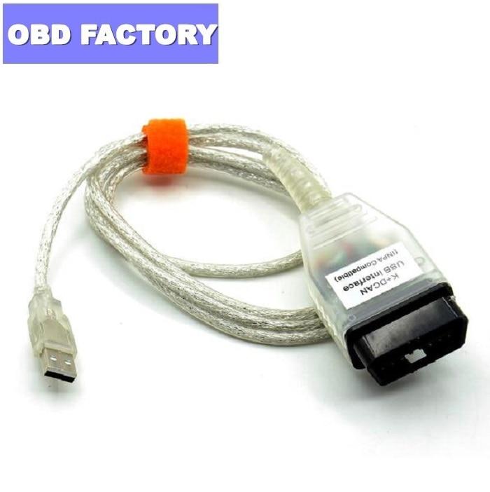 Para BMW INPA K + con FT232RQ interruptor K puede INPA DIS SSS NCS codificación para BMW Serie el INPA K DCAN Cable de interfaz USB del Inpa interruptor