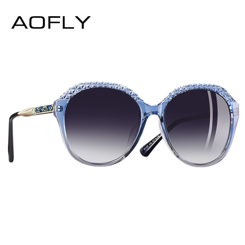 AOFLY BRAND DESIGN Polarized Sunglasses Women Gradient Sun Glasses For Women Fashion Oval Lens Glasses UV400 A133