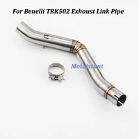 for benelli trk502 motorcycle exhaust muffler pipe modified middle connection link pipe with stainless steel slip on