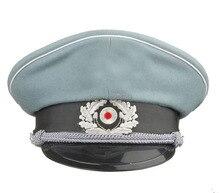 WW2 DEUTSCH WH M36 OFFIZIER WOLLE BRECHER KAPPE MIT KINN CORD GRÖßE L-34176