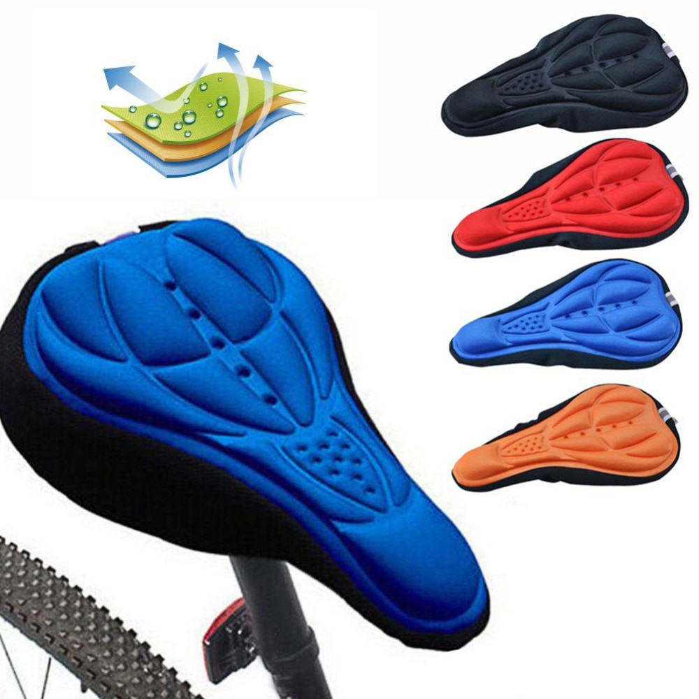Soft 3D Pad Bicycle MTB Mountain Bike Saddle Cycling Seat Cover Cushion Sponge Foam Saddle Bike Accessories Parts Bicycle Saddle