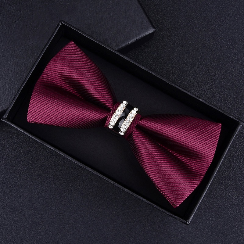 Смокинг с металлическими кристаллами, мужской и женский галстук-бабочка, черный, фиолетовый, синий, красный
