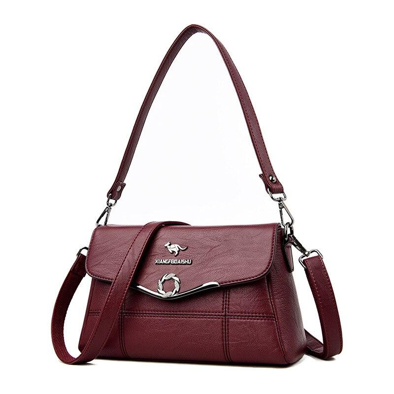 2019 New Soft Genuine Leather Crossbody Bags Ladies Hand Bags Elegant Shoulder Bag Women Handbags and Purses Clutch