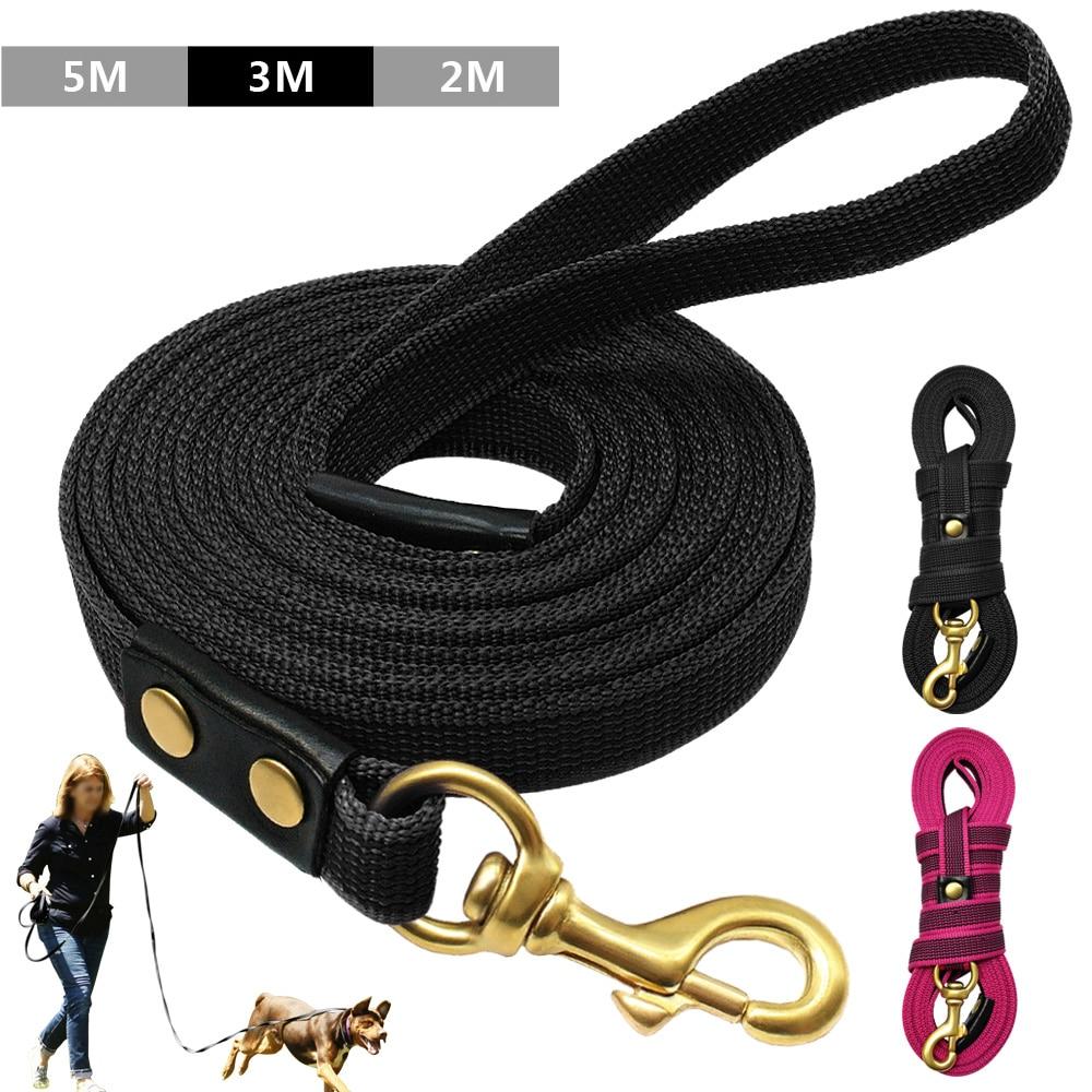 Dog Tracking Leash for Large Dogs K9 Nylon Dog Leash Pet Walking Leads Training Pet Training Recall Rope Non-Slip 2m 3m 5m