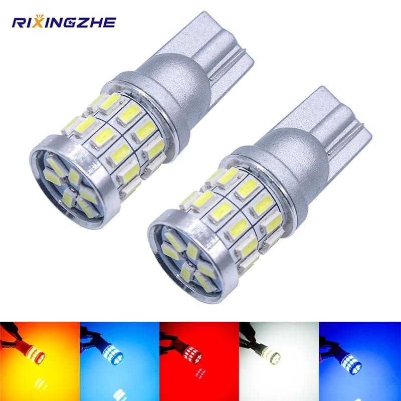 Rxz 1 pces w5w led t10 lâmpadas led canbus 18smd 3014 para luzes da posição de estacionamento do carro, mapa interior dome luzes 12v amer branco brilhante
