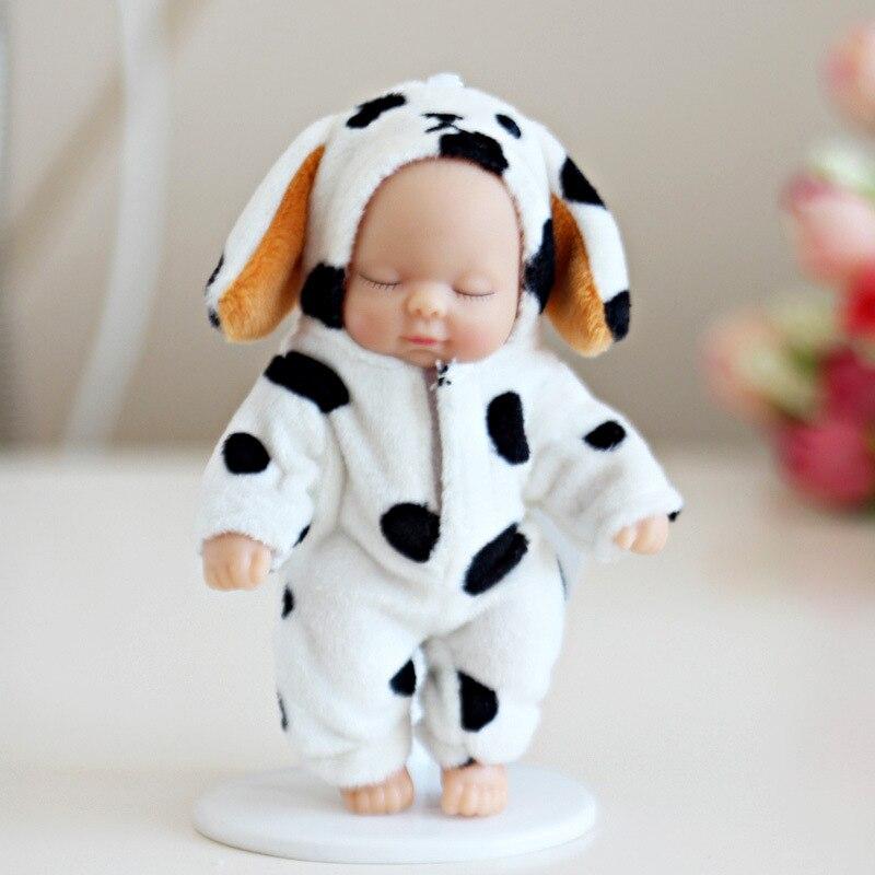 Muñecas de peluche Bjd bebé muñeca reborn llavero juguete para niños niñas regalo navideño PVC niños bebé nacido juguete articulaciones se pueden mover 12cm