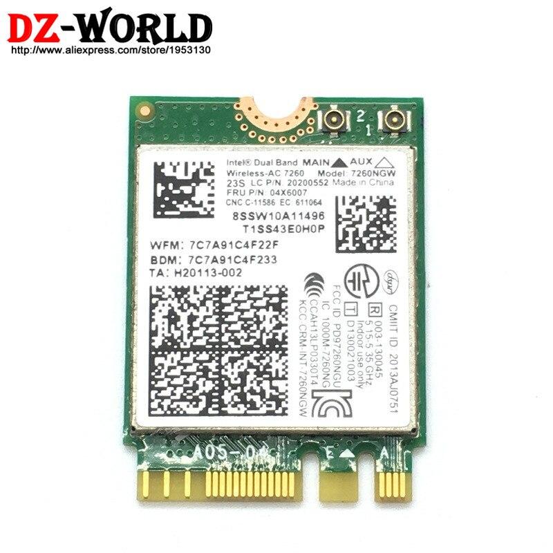 ل إنتل اللاسلكية-ac 7260 7260NGW BT4.0 اللاسلكية wlan بلوتوث بطاقة 04x6007 04W3806 لباد T440 T440P T440S T540P