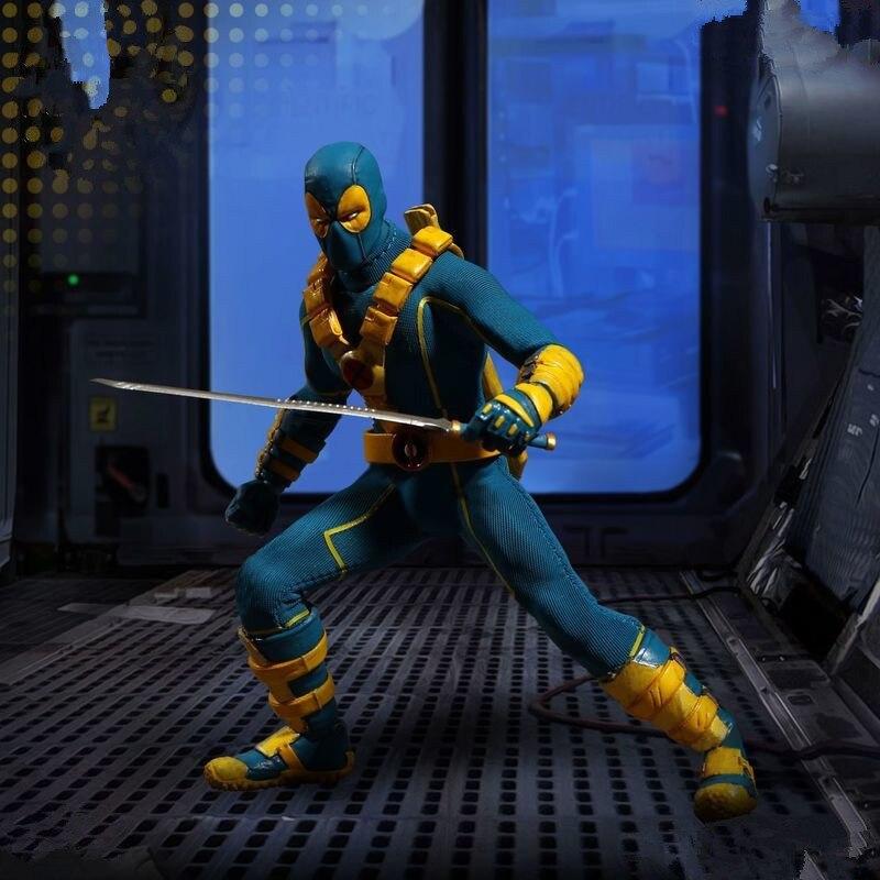 Deapool figura de acción variante 1/8 escala pintada figura azul y rojo ropa Ver. Deadpool juguetes de figuras de PVC Brinquedos Anime