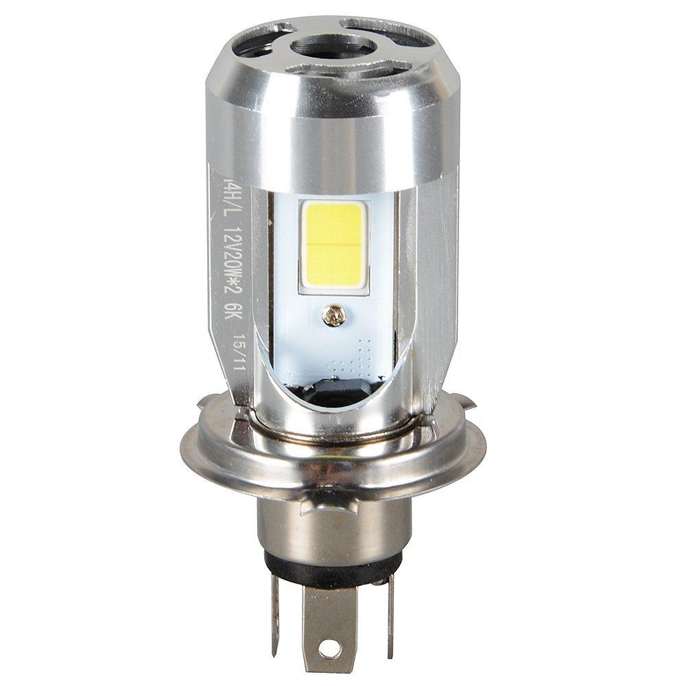 Super bright Motorcycle H4 HS1 Headlight Hi/Lo Dual Moto LED Bulbs Headlamp 2000LM 20W White