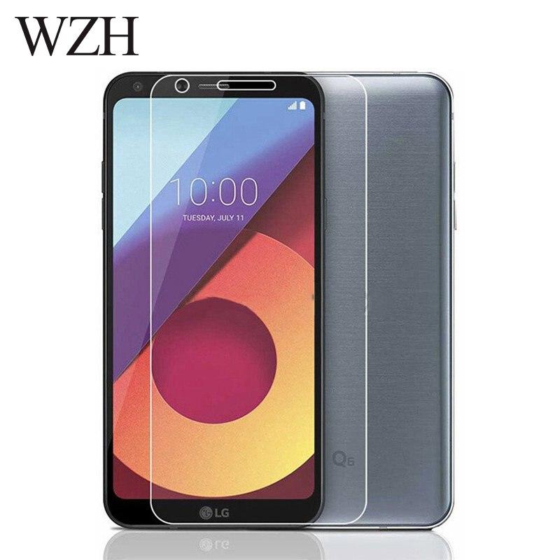WZH vidrio templado LG Q6 Protector de pantalla LG Q6 alpha Q6a Q 6 a M700 Protector de pantalla Protector de vidrio Flim cubierta