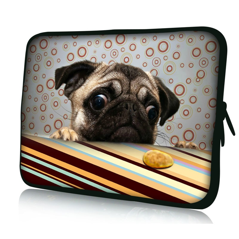 Симпатичная сумка для ноутбука с Мопсом чехол 9 7 10 1 13 3 15 4 6 17 дюйма ipad macbook pro/air acer hp