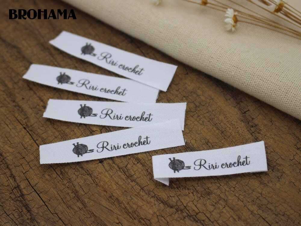 Custom Flat folding Tags / brand labels, Sewing Labels,Custom   Clothing Tags, Name Tags, Handmade labels (MD004)
