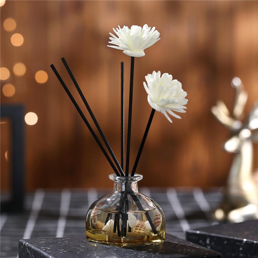 Difusores de aceite de caña con palos naturales, botella de vidrio y aceite perfumado 60ML