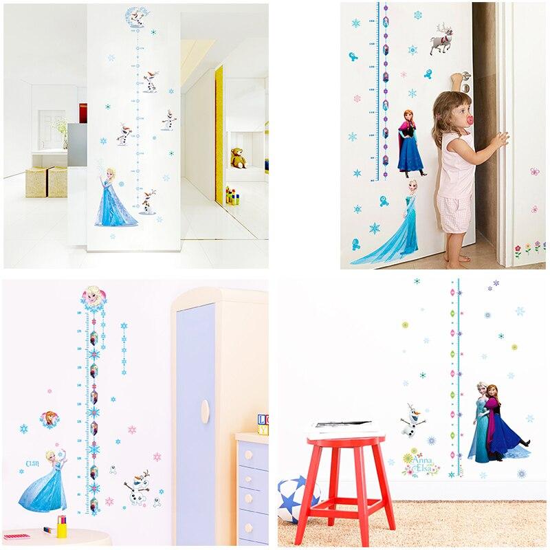 Disney Gefrorene Prinzessin Höhe Messen Wand Aufkleber Für Kinder Zimmer Home Decor Cartoon Elsa Anna Wachstum Chart Wand Decals Wandbild