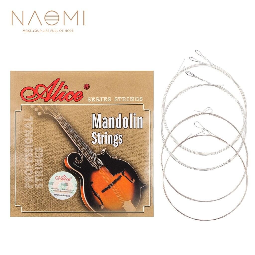 Naomi 1 SET Alice AM03 mandolina cuerdas de acero chapado y recubierto de cobre herida cuerdas de guitarra instrumentos de la familia