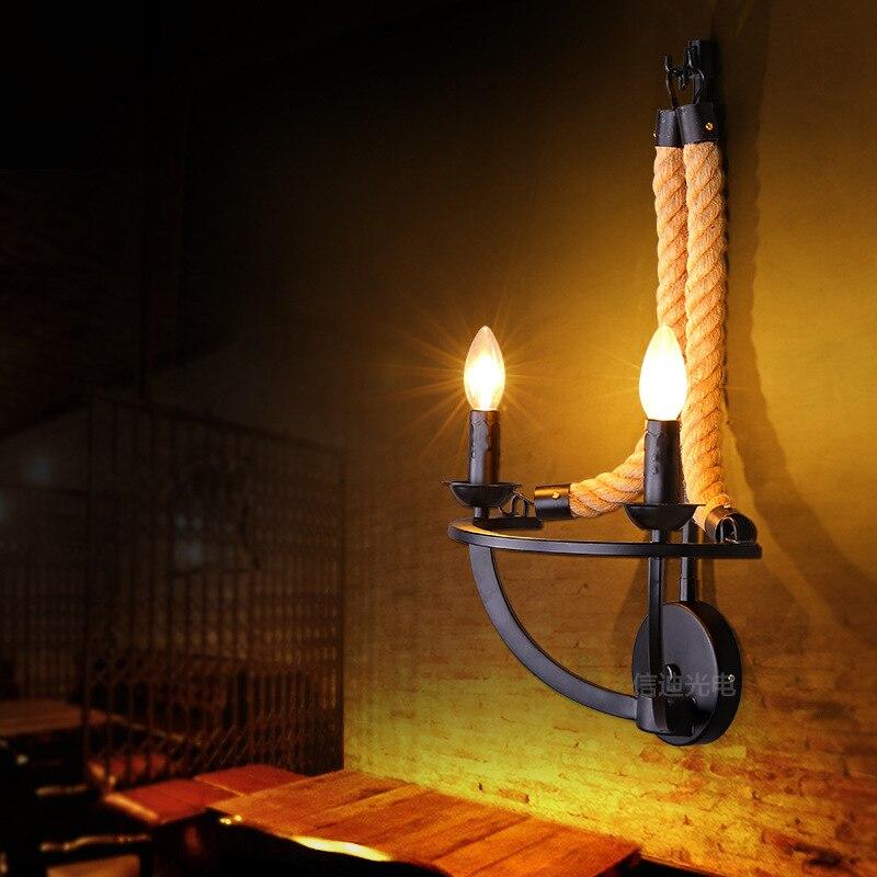 Lámparas de pared industriales, apliques de pared, iluminación interior, lámpara Led, accesorios de iluminación, lámpara de cama, dormitorio, sala de estar