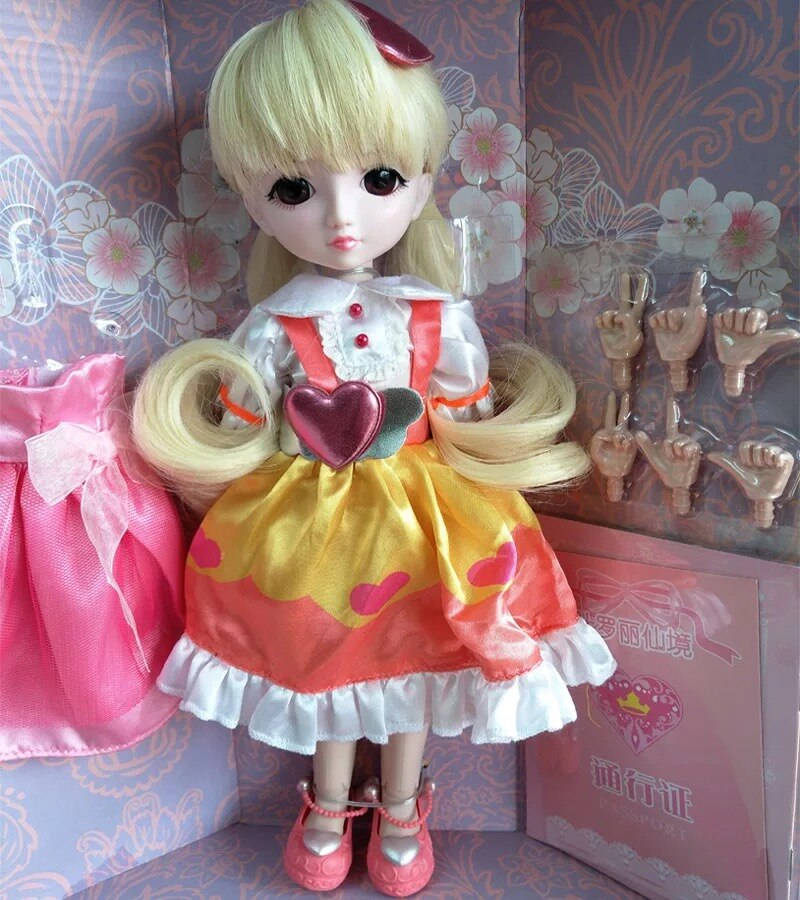 ¡Envío gratis! muñeca Lourie barata/muñeca bjd DIY para muñecas cosmética reacondicionada 30CM regalo de alta calidad/muñeca Ye Luoli Night Lolita 16100803