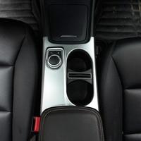 Matte ABS Chrome Cup Holder Cover Trim For Mercedes Benz A/GLA/CLA Class C117 W117 W176 X156 2012-2018 AMG Car Accessory LHD RHD