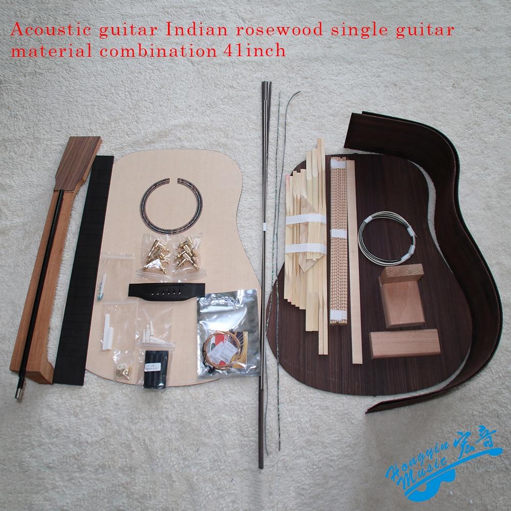 41 بوصة D-نوع ركن منحني الغيتار الصوتية لتقوم بها بنفسك عدة الماهوجني الأفريقي Okoume الرقبة روزوود الجانب الخلفي خشب الأبنوس الأصابع