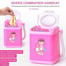 Mini Elektrische Make-Up Pinsel Reiniger Waschmaschine Puppenhaus Spielzeug Waschen Make-Up Pinsel Schönheit Mixer Waschmaschine Reiniger
