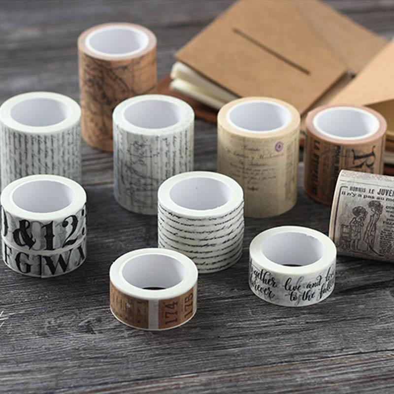 Cinta adhesiva para oficina, material de papelería para estudiantes, cinta bobinadora para decoración del hogar DIY, pegatinas para periódicos, cinta decorativa de papelería