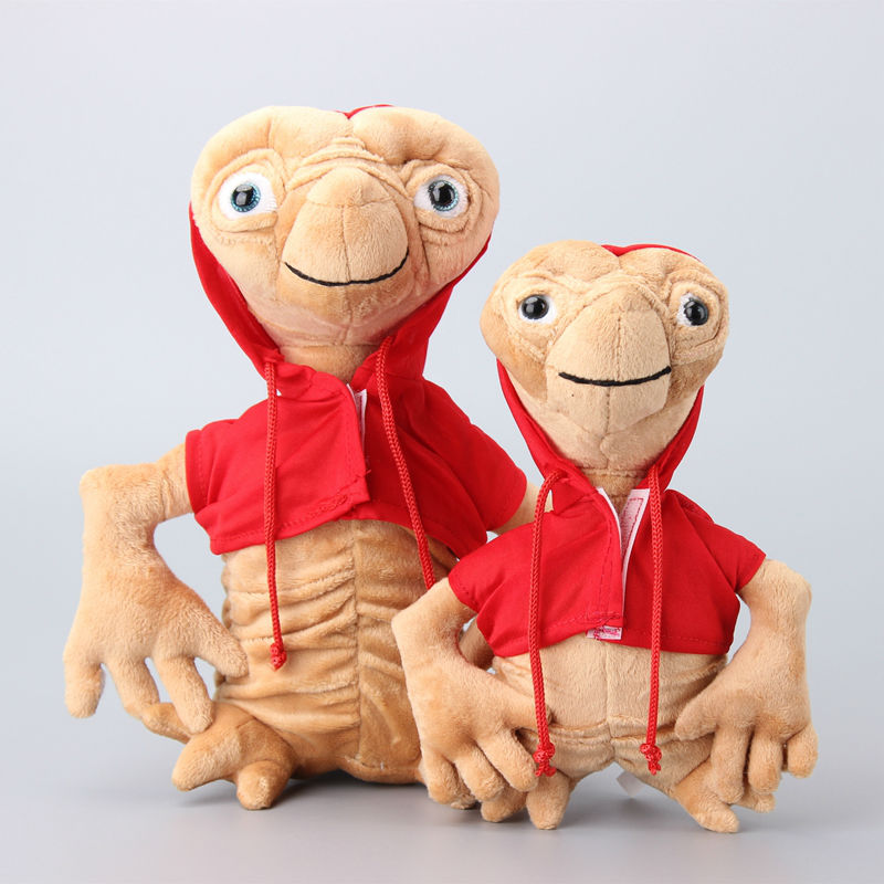 Movie The Extra-Terrestrial Red Coat ET Plush Toys Stuffed Soft Dolls Kids Gift 2 Sizes