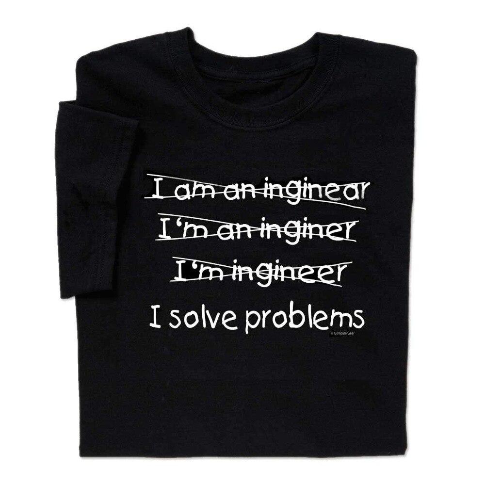 I resolver problemas ingeniero t-shirtnew 20 18 Hip Hop hombres y hombres ropa de marca camisetas de moda camisetas de manga corta