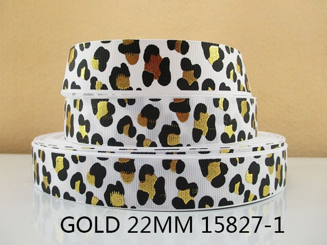 David-accessoires 5 y15827 par rouleau   Bricolage, ruban en polyester imprimé en or de 7/8