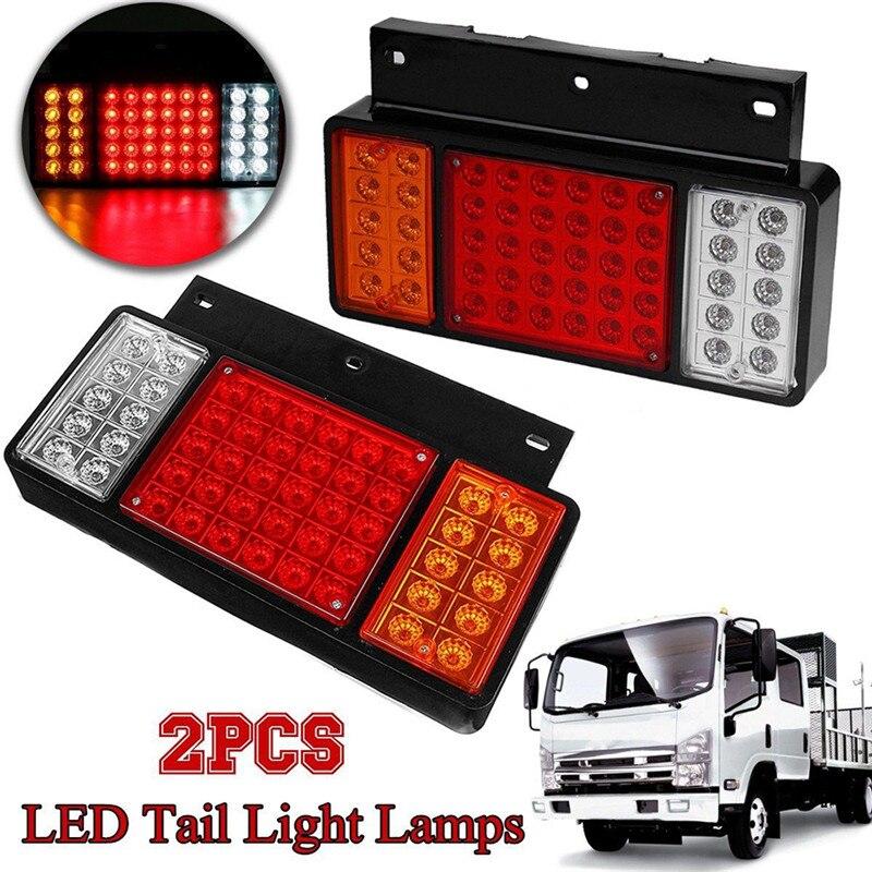 Nuevas lámparas LED de luz trasera de gran calidad, 2 uds., superbrillantes y de larga vida útil, 50 lámparas aptas para ISUZU Elf Truck NPR NKR NHR NLR 1984-UP #294916