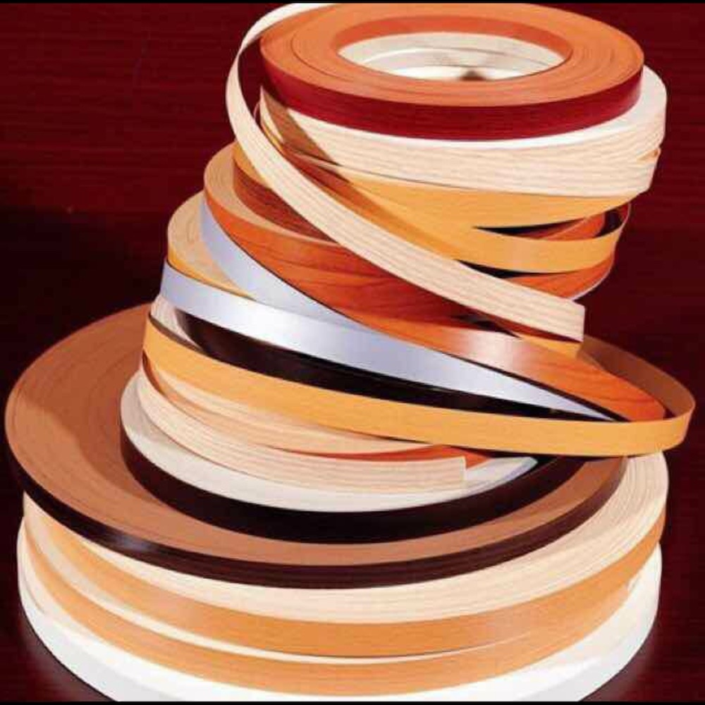 Chapa prepegada, borde de melamina, cortadora de bandas, tabla de armario de cocina de madera, ancho del borde 2,8 cm x 100m, cinta de borde